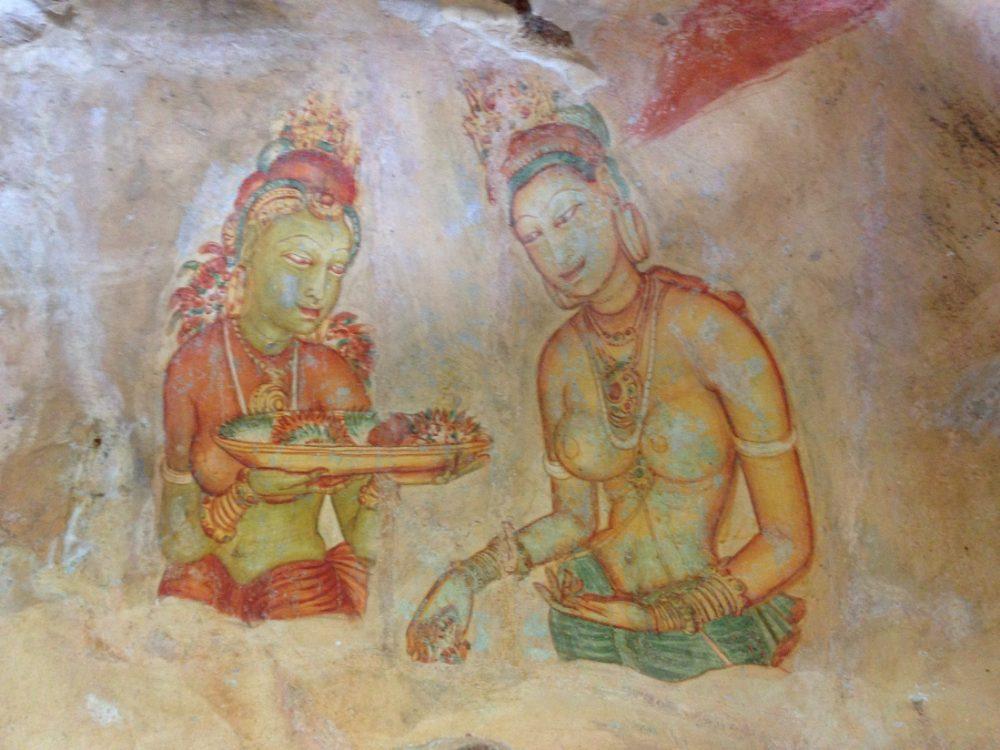 peinture rupestre Sigiriya